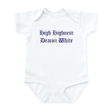 High Highness Deacon White Infant Bodysuit