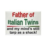 Father of Italian Twins Rectangle Magnet