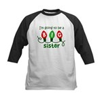 Big Sister to be - Christmas Lights Kids Baseball