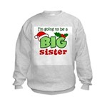 Big Sister to be - Christmas Kids Sweatshirt