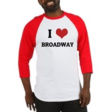 I Love Broadway Baseball Jersey