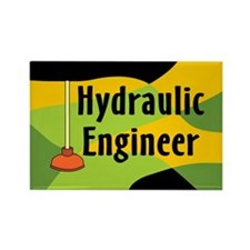 Hydraulic Engineer Rectangle Magnet
