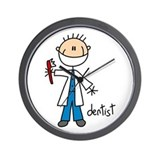 Professions Dentist Wall Clock