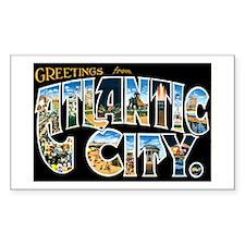 Atlantic City New Jersey NJ Rectangle Sticker 50