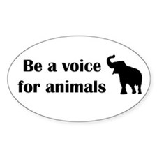Be a voice Oval Sticker (50 pk)