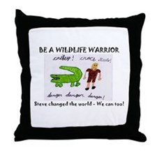 Cute Steve irwin Throw Pillow