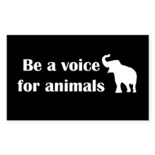 Be a voice Rectangle Sticker 10 pk)