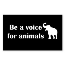 Be a voice Rectangle Decal