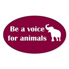 Be a voice Oval Sticker (10 pk)