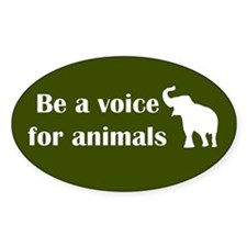 Be a voice Oval Stickers