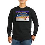 XmasSunrise/Shiba Inu 3 Long Sleeve Dark T-Shirt