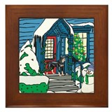Welcome Rottweiler Framed Tile