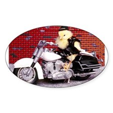 BIKER CHICK Oval Sticker (10 pk)
