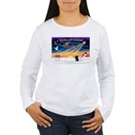 XmasSunrise/2 Poodles Women's Long Sleeve T-Shirt