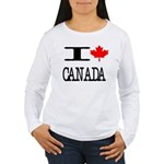 I Heart Canada Women's Long Sleeve T-Shirt
