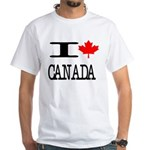 I Heart Canada White T-Shirt