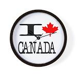 I Heart Canada Wall Clock