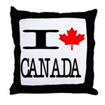 I Heart Canada Throw Pillow