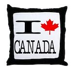 I Heart Canada Throw Pillow
