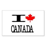 I Heart Canada Rectangle Sticker 10 pk)