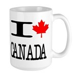 I Heart Canada Large Mug