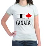 I Heart Canada Jr. Ringer T-Shirt