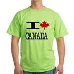 I Heart Canada Green T-Shirt