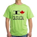 I Heart Canada Green T-Shirt