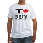 I Heart Canada Fitted T-Shirt