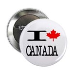 "I Heart Canada 2.25"" Button (10 pack)"