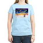 XmasSunrise/Poodle (min) Women's Light T-Shirt
