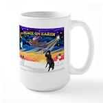 XmasSunrise/Std Poodle Large Mug
