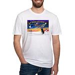 XmasSunrise/Std Poodle Fitted T-Shirt