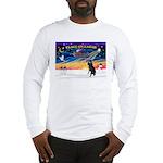 XmasSunrise/Std Poodle Long Sleeve T-Shirt