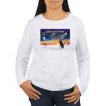 XmasSunrise/Std Poodle Women's Long Sleeve T-Shirt