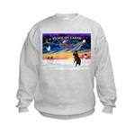 XmasSunrise/Std Poodle Kids Sweatshirt