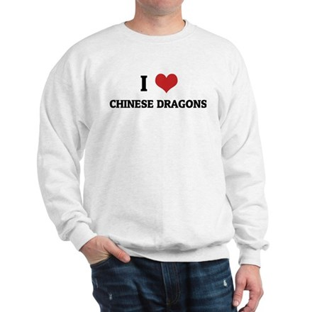 I Love Chinese Dragons Sweatshirt