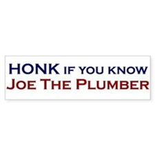 Joe The Plumber Bumper Bumper Sticker