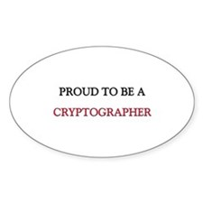 Proud to be a Cryptographer Oval Decal