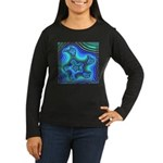 Fractal S~11 Women's Long Sleeve Dark T-Shirt