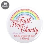 "Rainbow For Girls - Faith, Ho 3.5"" Button (10 pack"