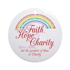 Rainbow For Girls - Faith, Ho Ornament (Round)