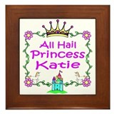 All Hail Princess Katie Framed Tile