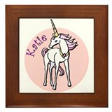 Katie Unicorn Framed Tile