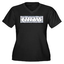 PRISONER Women's Plus Size V-Neck Dark T-Shirt