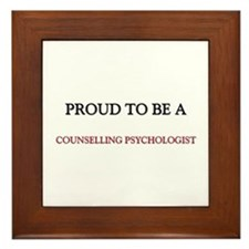 Proud to be a Counselling Psychologist Framed Tile