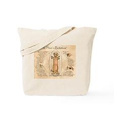 Da Vinci's Dachshund Tote Bag