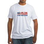 Joe the Plumber for McCain Fitted T-Shirt