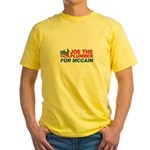 Joe the Plumber for McCain Yellow T-Shirt