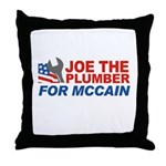 Joe the Plumber for McCain Throw Pillow